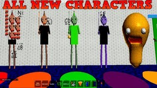 ALL NEW CHARACTERS in ROBLOX (Baldi's Basics GAMEPLAY)