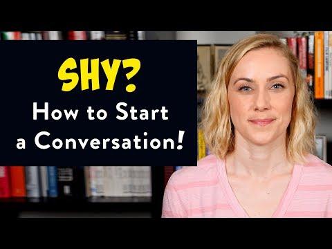 SHY? How to Start a Conversation!  [CC English & Español] | Kati Morton