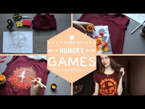 Футболка Голодные Игры | Hunger Games Mockingjay Fan T-shirt DIY | Masherisha