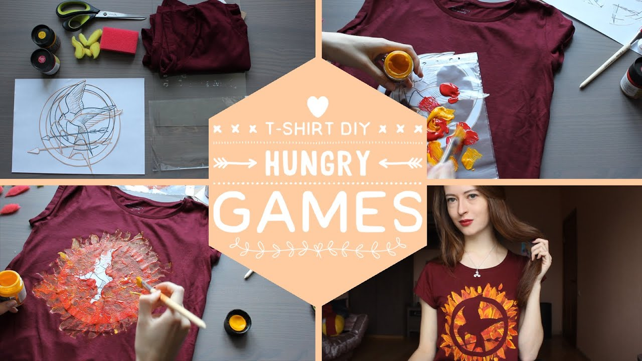 Футболка Голодные Игры | Hunger Games Mockingjay Fan T-shirt DIY | Masherisha
