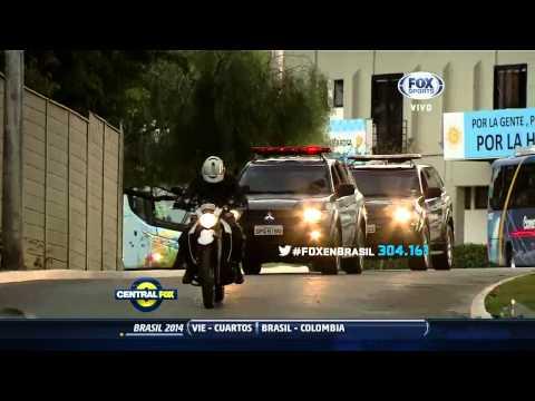 Argentina parte rumbo a Brasilia
