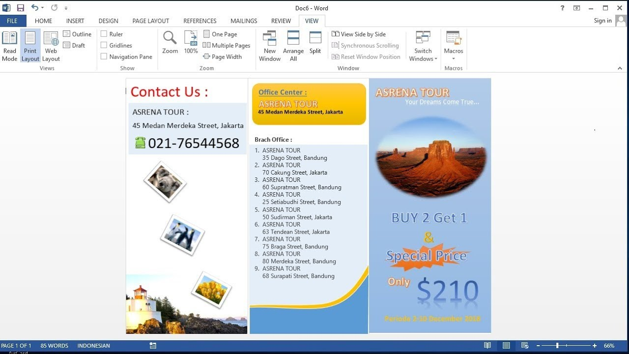 microsoft word tutorial how to make your own a tri fold brochure in