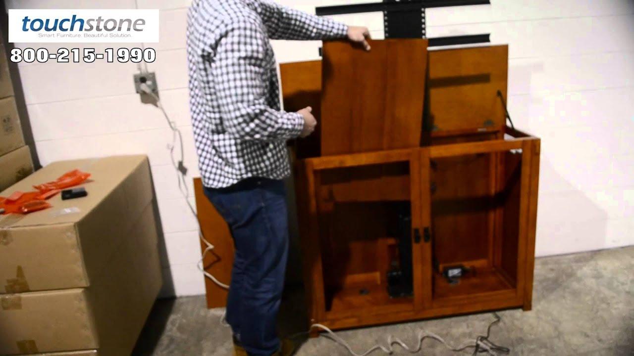 Installing Touchstone Whisper Lift II In TV Lift Cabinet