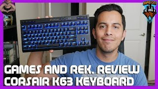 Games and Rek. Review: Corsair K63 Wireless Mechanical Keyboard