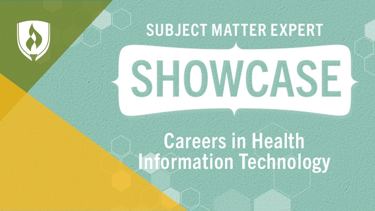 Careers In Health Information Technology Career Chat Youtube