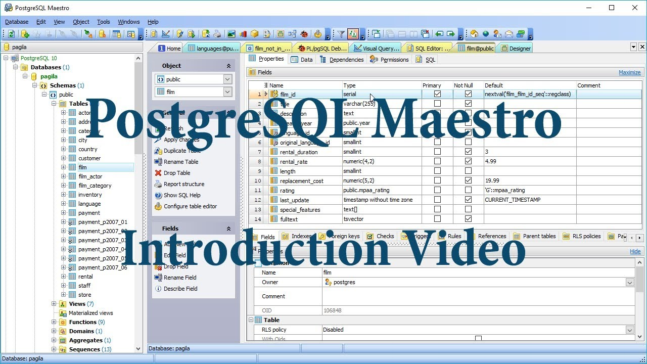 PostgreSQL GUI Admin Tool - Postgres manager for Windows by SQL