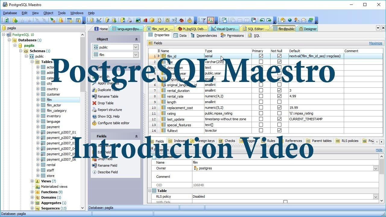 PostgreSQL Maestro Professional 2019 Free Download