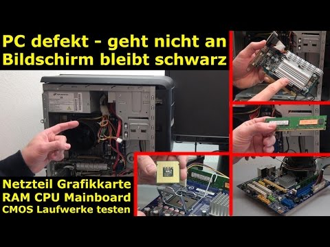 PC defekt - geht nicht an - Bildschirm bleibt schwarz - Reparaturanleitung - [4K Video]
