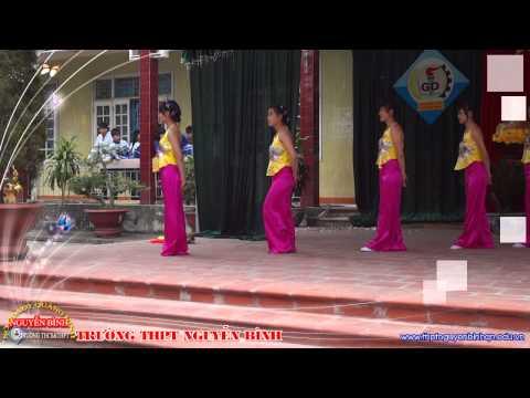 """Tiết mục múa """"Beo dat may troi"""" chi đoàn 11B2 trường THPT Nguyen Binh"""