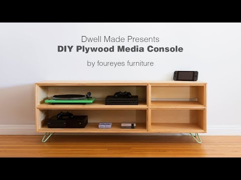 Modern DIY Plywood Media Console from | A Dwell Made Project