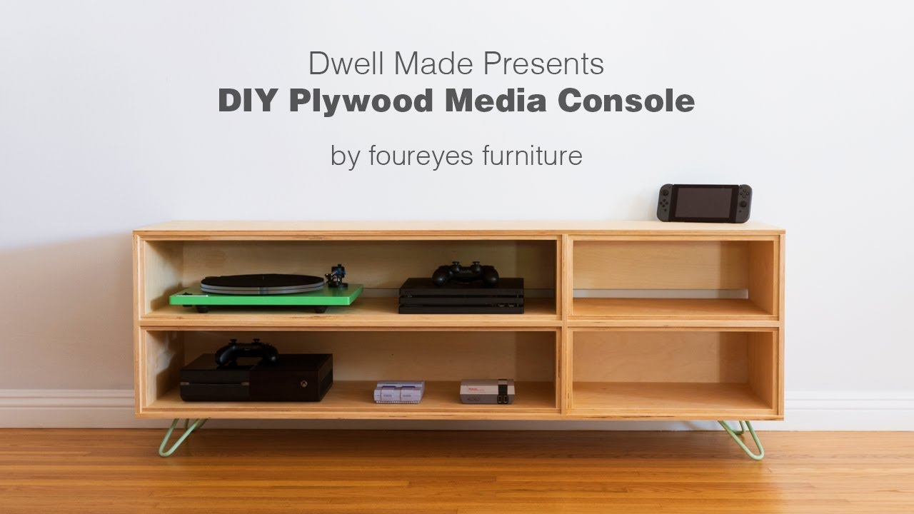 Plywood Furniture Modern Diy Plywood Media Console From A Dwell Made Project
