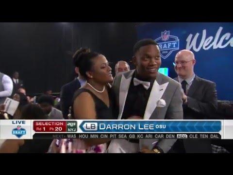 2016 NFL Draft Rd 1 Pk 20 | NY Jets Select LB Darron Lee
