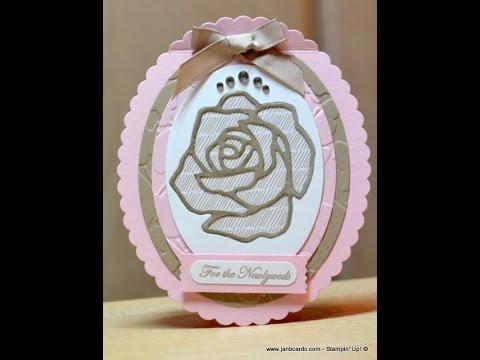 Oval Rose Wonder Card - JanB UK Stampin' Up! Demonstrator Independent