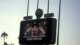 San Diego Padres starting lineups at Dodger Stadium  8/5/10