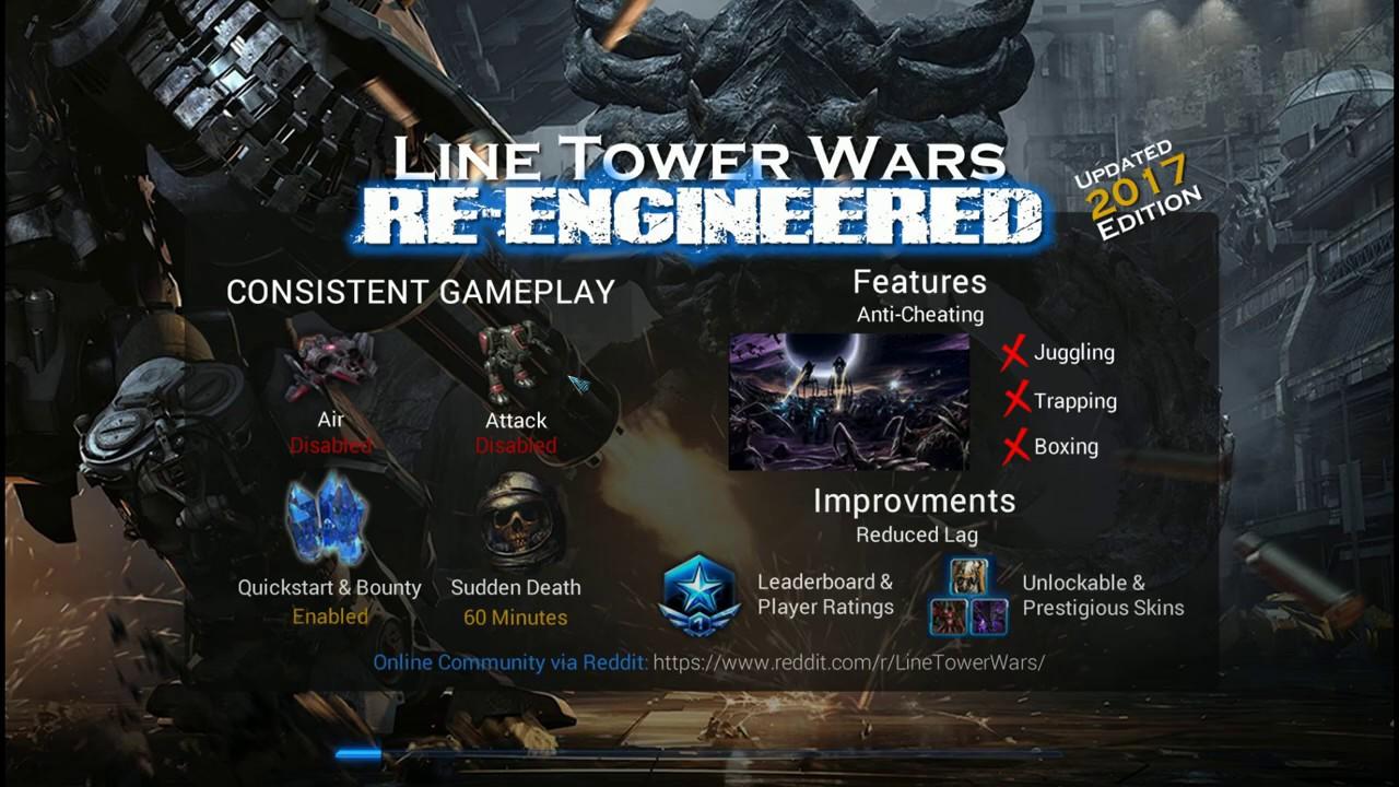 StarCraft II Line Towers Wars - Re engineered