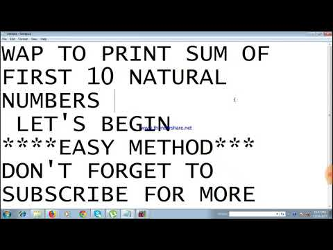 C-Program to find sum of first 10 natural numbers using loop in c language