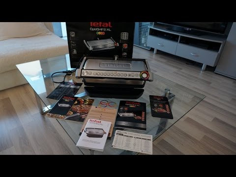 tefal optigrill plus xl unboxing youtube. Black Bedroom Furniture Sets. Home Design Ideas
