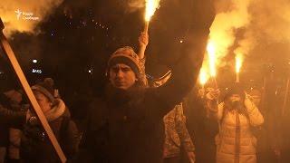 Як у Києві відзначили день народження Степана Бандери