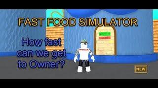 Roblox Fast Food Simulator