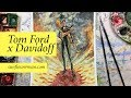 Watercolor Time Lapse, Tom Ford x Davidoff Cigar Fashion Illustration