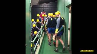 Clare team leaves dressing room at Fenway Park