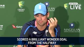 Alastair Cook responds to Nathan Lyon