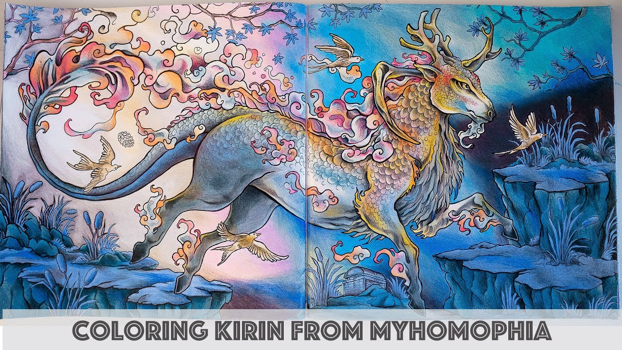 Coloring kirin from mythomorphia speed coloring