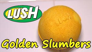 LUSH - GOLDEN SLUMBERS Bath Bomb - DEMO - Underwater - REVIEW Lush UK SLOW MOTION