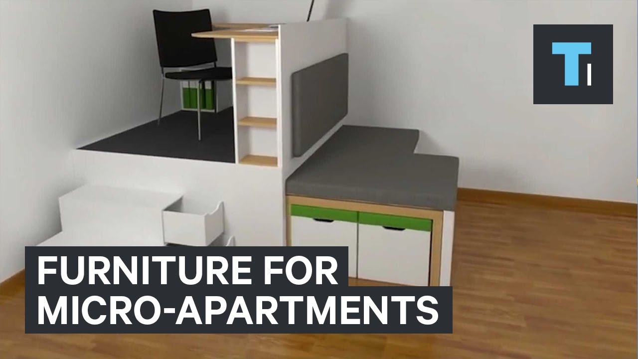 Furniture for micro apartments youtube for Apartment furniture