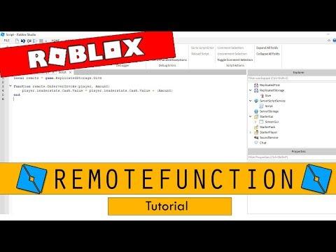 Roblox Studio - RemoteFunction - YouTube