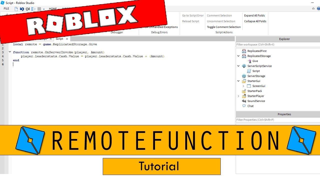 Roblox Studio - RemoteFunction