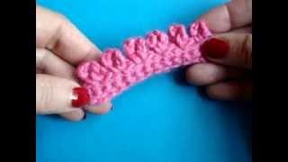 Вязание крючком Урок 152 Пико Маленькие ушки