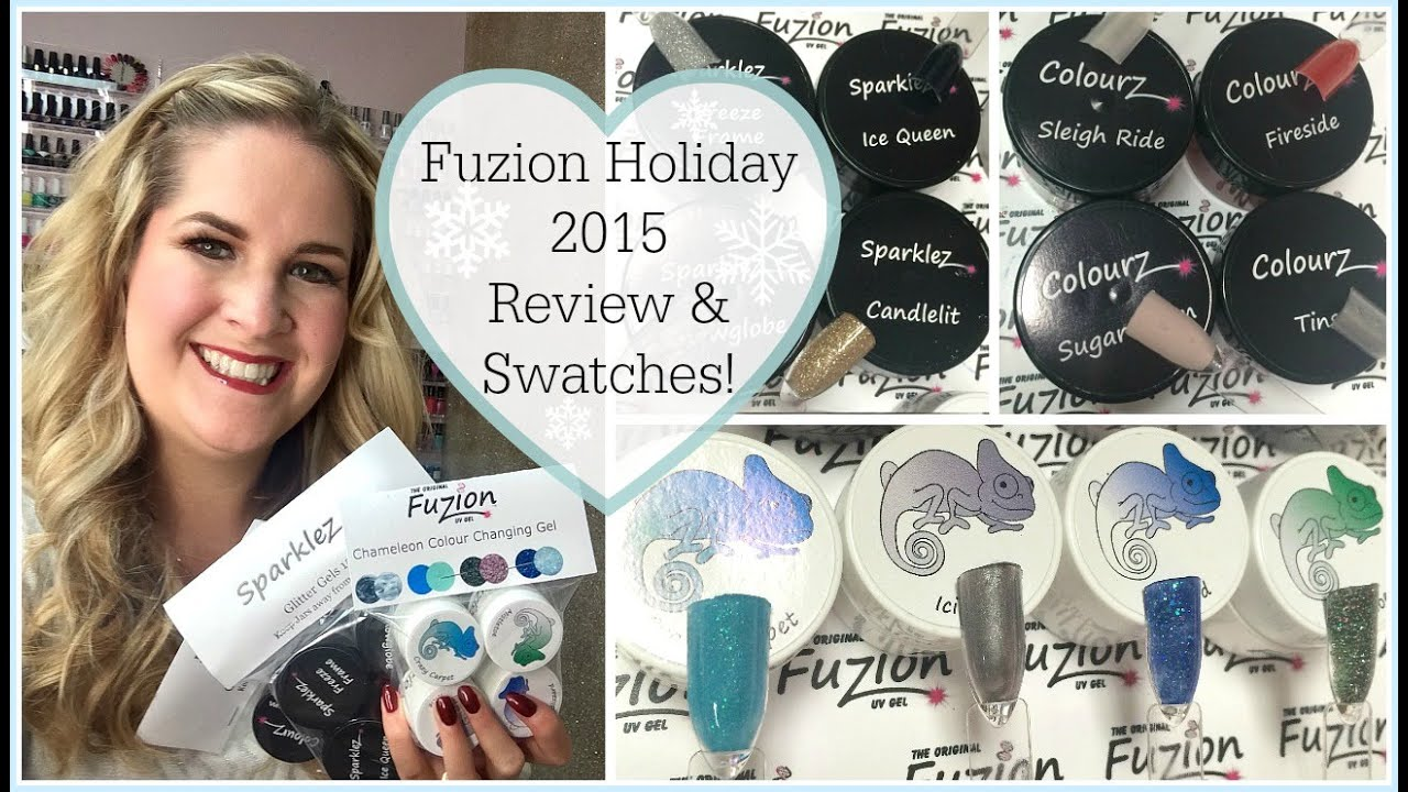 Fuzion UV Gel Holiday 2015 Collection | Swatches & Review! - YouTube