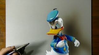 Drawing Donald Duck | How to draw 3D Art