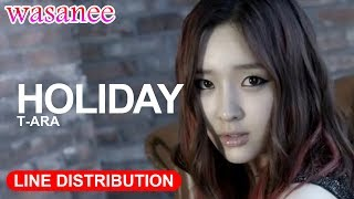 T-ARA - Holiday - Line Distribution (Color Coded)