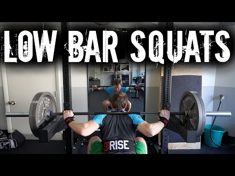 MASS Gaining Ep. 07   Low Bar Squats Garage Gym Workout   Vacation Prepping