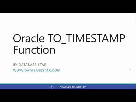 Oracle TO_TIMESTAMP Function