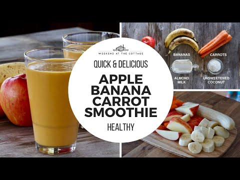 1-Minute Video! Delicious APPLE BANANA CARROT SMOOTHIE!