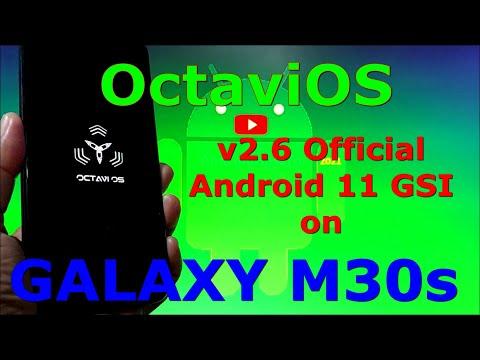 OctaviOS v2.6 Official on Samsung Galaxy M30s - Android 11 GSI