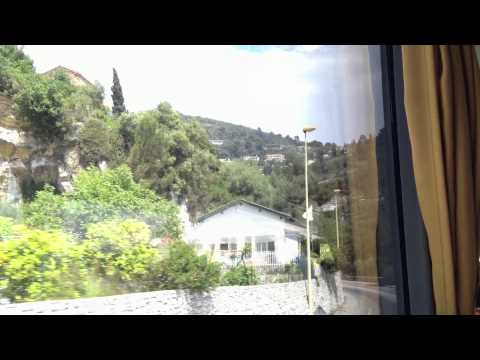 Driving from Nice to Eze - France