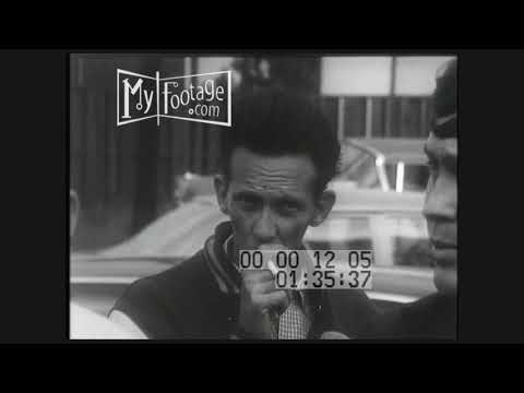 1960s Flint GM Workers On Strike (Silent)