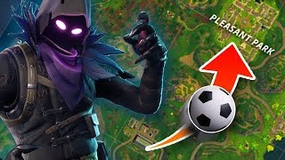 Kicking the Ball From Stadium to Pleasant Park - Fortnite Battle Royale