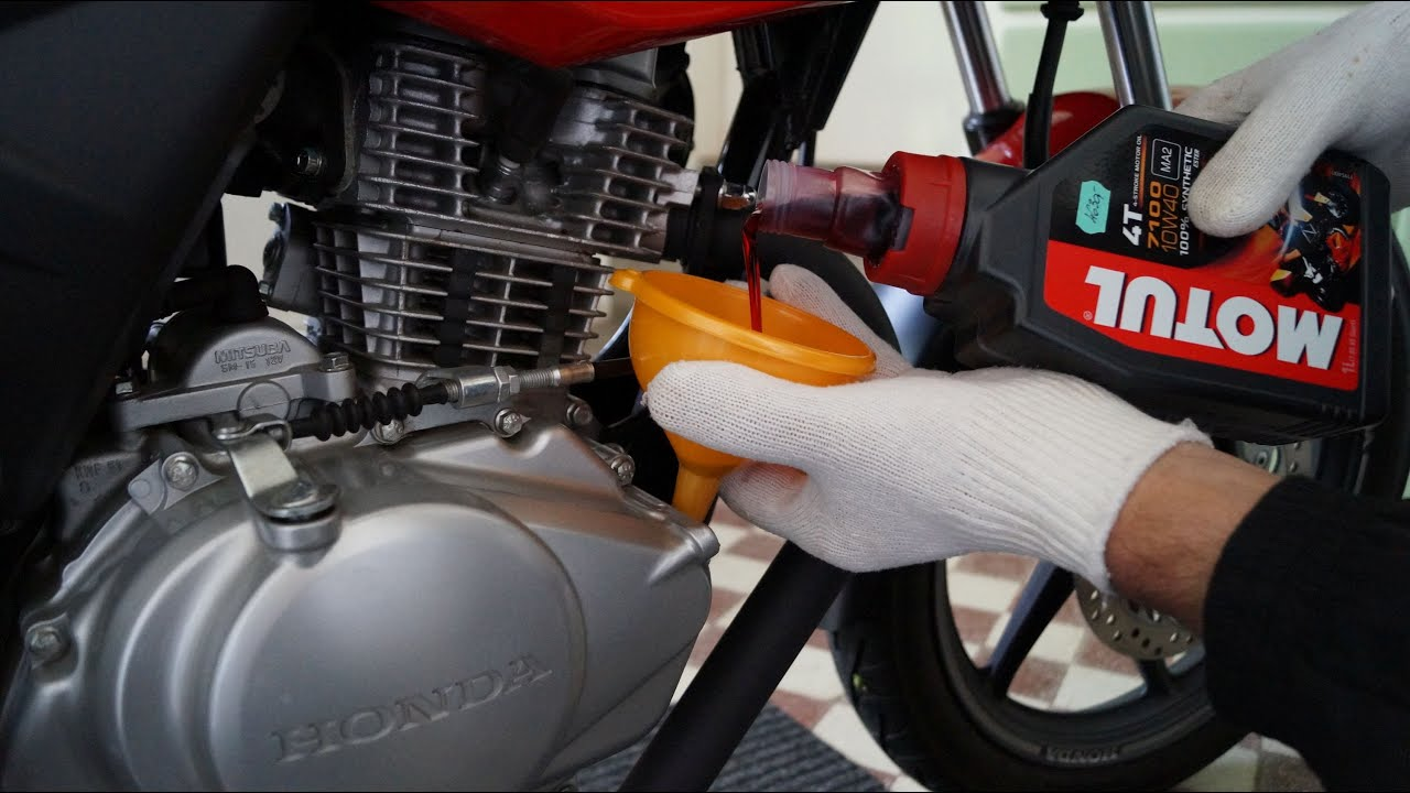 honda cbf  oil change youtube