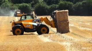 Réalisation Films Vidéo Agriculture , Pressage  ramassage  paille  céréales balles cubiques