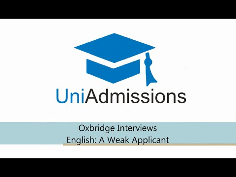 Oxford Interview: Weak English Applicant
