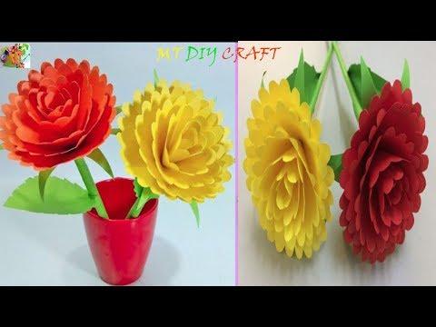 MT DIY Craft:Hand Make Beautiful Paper Flowers |How to Making Beautiful Paper Flowers Step by Step .