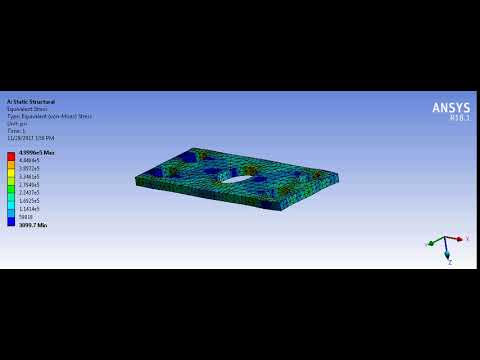Chess Subsea Engineering   Structural Steel Metal Plate   Equivalent Stress Simulation