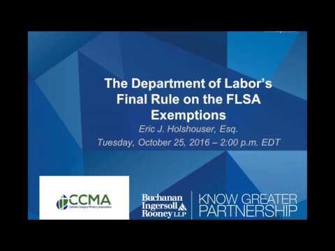 10-25-2016: The Department of Labor Changes FSLA and Your Campus Ministry
