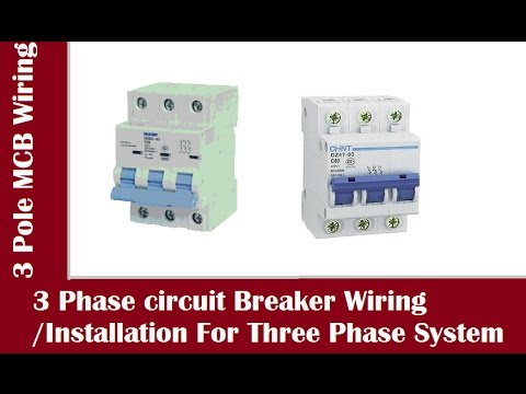3 Phase Circuit Breaker Connection / 3 Pole MCB Installation In ...