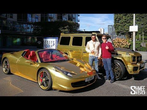 GOLD! Cars You Won't Miss - New Brabus G 700 and Ferrari 458 | VLOG